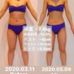 【福岡南区パーソナルジム 】2ヶ月でウェスト10cmのモニター結果