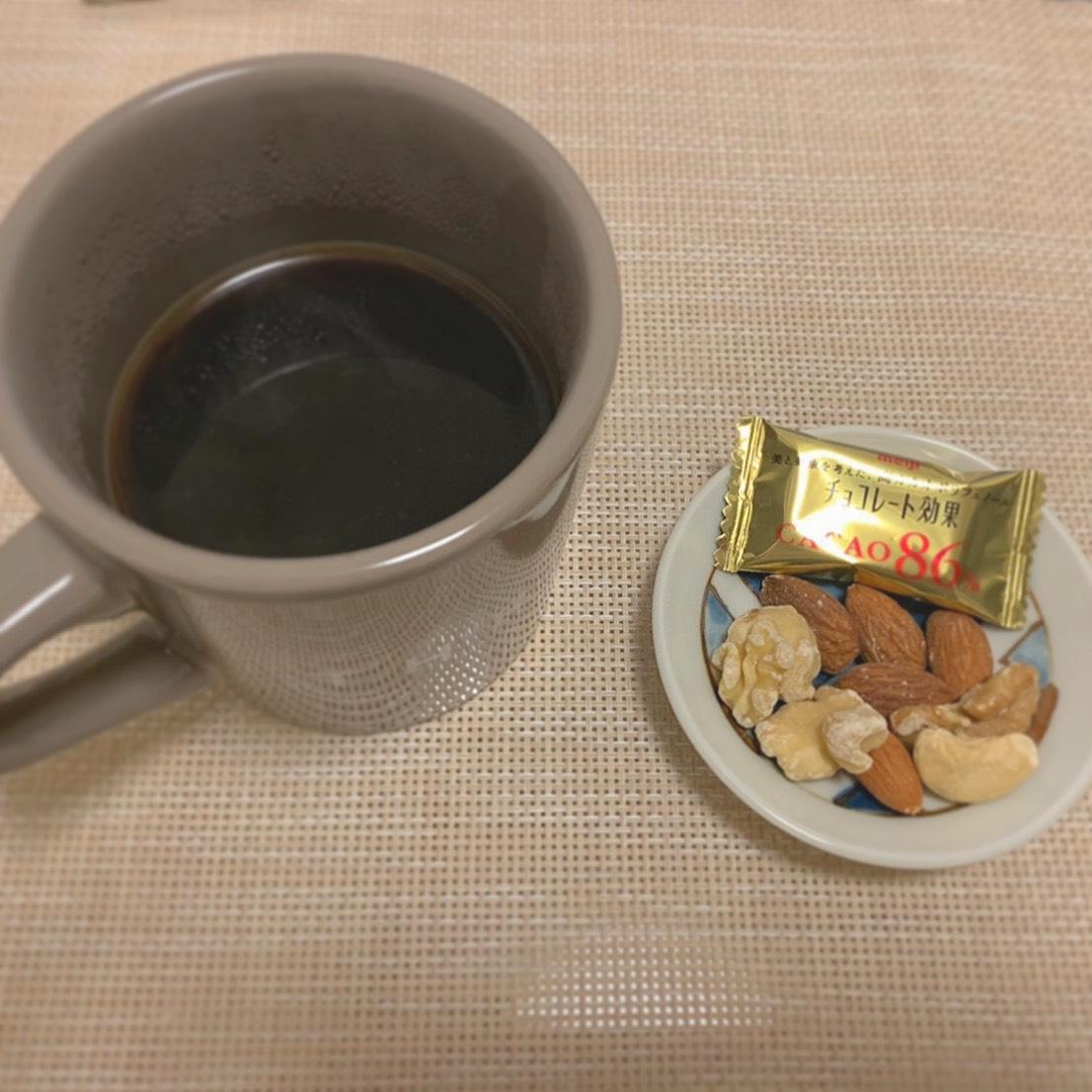 コーヒーとナッツ@福岡ダイエットジム