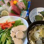 お刺身ダイエット食事例(福岡パーソナルトレーニングジム)