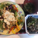 野菜と海藻たっぷりダイエット食事例(福岡パーソナルトレーニングジム)
