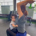 子供・赤ちゃんと家でできるエクササイズも提供(福岡パーソナルトレーニングジム)