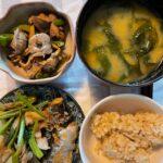 海鮮系煮物に野菜多めのダイエット夜ご飯例(福岡パーソナルジム)