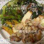 エリンギと鶏モモ肉炒め(ダイエットボディメイク食事例)